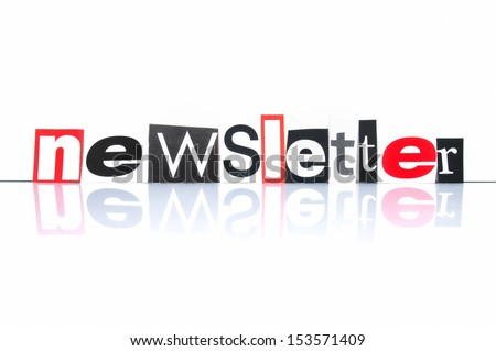 Newsletter with newspaper letters - stock photo