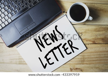 NewsLetter written on a sketch book