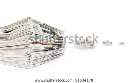 newspaper - stock photo