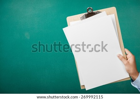 Newspaper. Blank magazine with copy space - stock photo