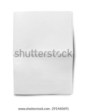Newspaper, Blank, Paper. - stock photo
