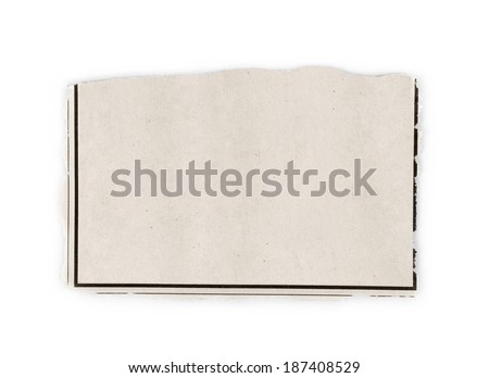 Newspaper clipping of the want ads with copy space isolated on white background. - stock photo