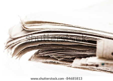 newspaper closeup - stock photo