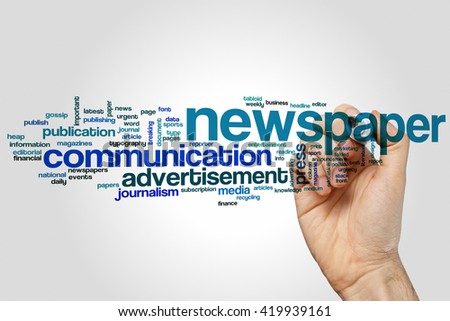 Newspaper concept word cloud background - stock photo