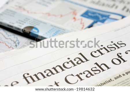 Newspaper headlines - financial crisis