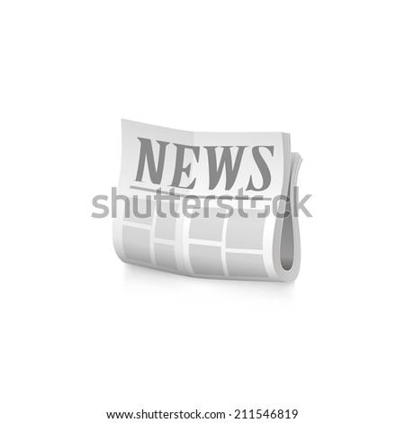 Newspaper icon. Raster copy. - stock photo