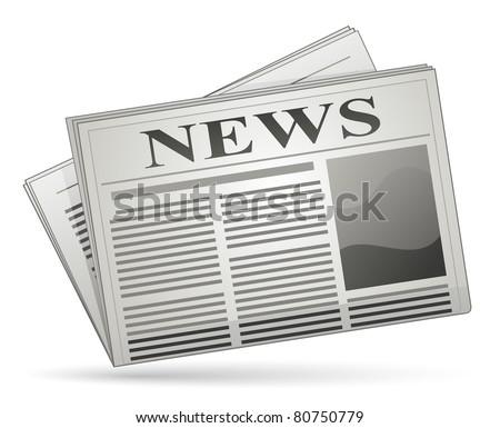 Newspaper icon. Raster version - stock photo