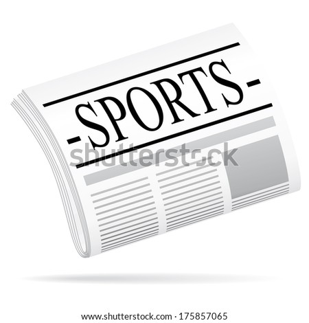 Newspaper icon. Sports argument.