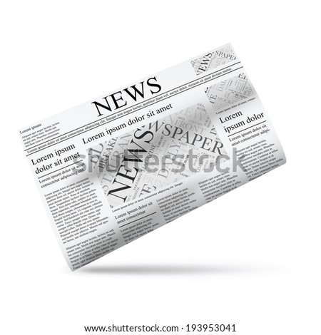 Newspaper illustration icon template