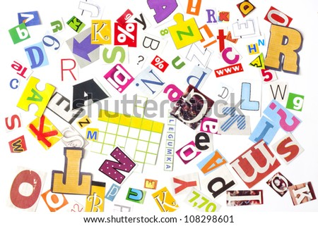 newspaper letters  concept background - stock photo