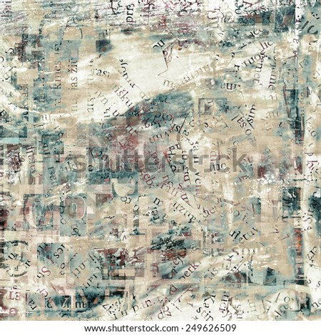 newspaper, magazine grunge letters background - stock photo