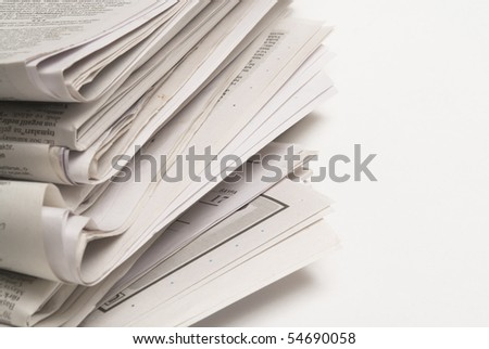 newspaper on white