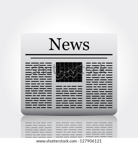 Newspaper. Vector version also available in gallery. - stock photo