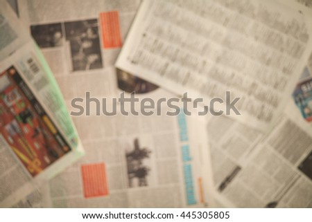 Newspapers blurred, background - stock photo