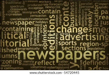 Newspapers Concept of News Updates and Headlines - stock photo