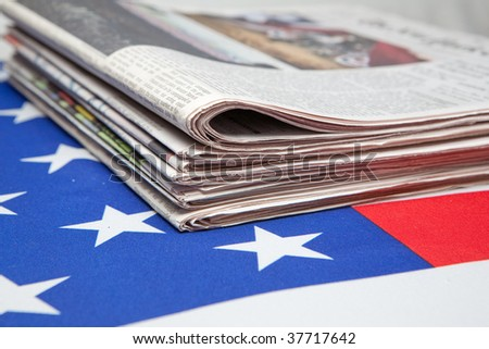 newspapers on the ensign of the USA
