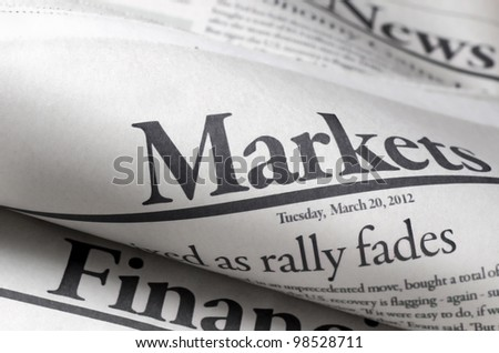 Newspapers with shallow depth of field - stock photo