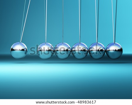 newton cradle 3d image fine illustration  background - stock photo