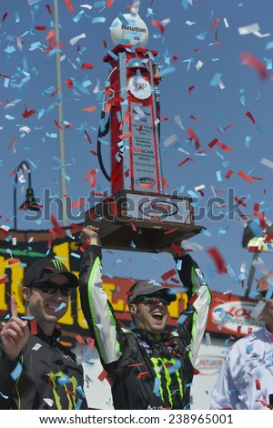 Newton, IA - May 18, 2014:  Sam Hornish, Jr. wins the Get To Know Newton 250 at Iowa Speedway in Newton, IA. - stock photo