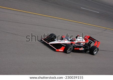 Newton Iowa, USA - June 24, 2011: Indycar Iowa Corn 250, Helio Castroneves-Brazil, Team Penske, Indy racing action motorsport event.