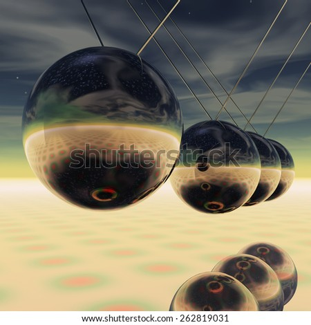 Newton Pendulum - stock photo