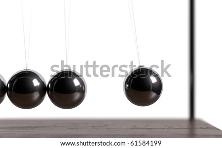 Newton's balls in  actions - stock photo