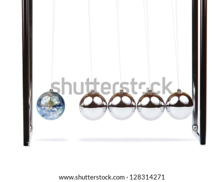 Newton's Cradle - stock photo