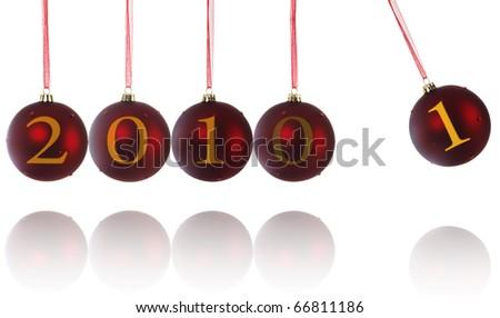 Newtons Cradle Christmas ball - stock photo