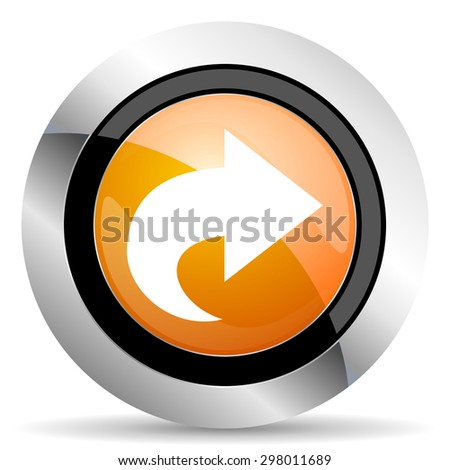 next orange icon arrow sign