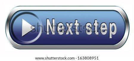 next step move or level button or icon - stock photo