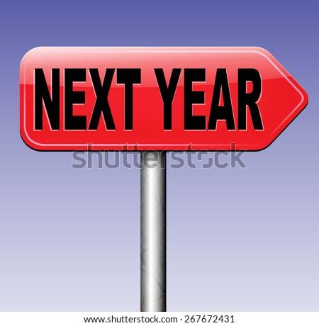 next year new start  - stock photo