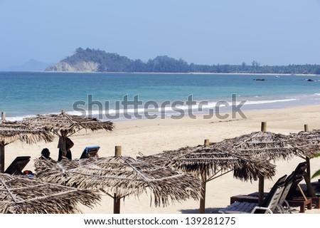 Ngapali beach, Burma - stock photo