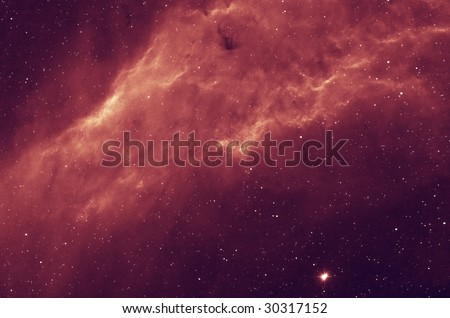 "NGC 1499 ""California"" Hydrogen emission nebula in Perseus - stock photo"