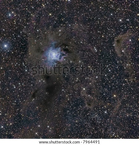 NGC 7023 Iris Nebula in Cepheus - stock photo