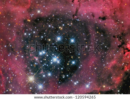NGC2244 Rosette nebula - stock photo