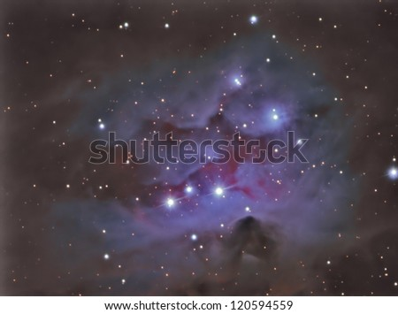 ngc1977 Running man nebula - stock photo
