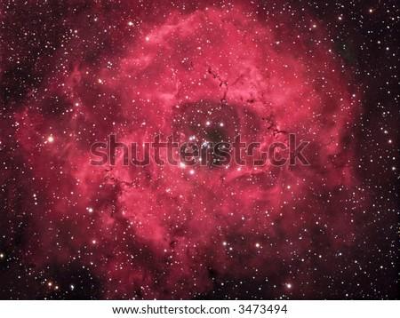 NGC 2244 The Rosette Nebula - stock photo