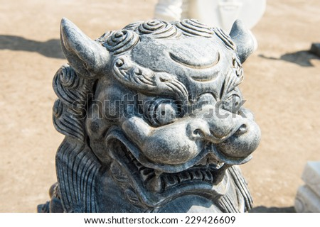 NGU HANH SON VILLAGE, DANANG, VIETNAM - SEP 23, 2014 - Handmade stone statue for sell for tourists.