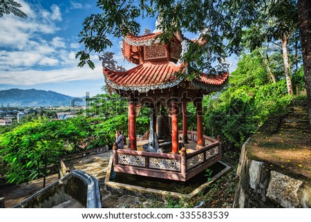 NHA TRANG, VIETNAM - Nov 2014: View of the Long Son Pagoda