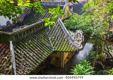 NHA TRANG, VIETNAM - Nov 2014: View of the Long Son Pagoda - stock photo