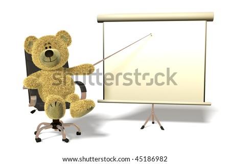 Nhi Bear office presentation. - stock photo