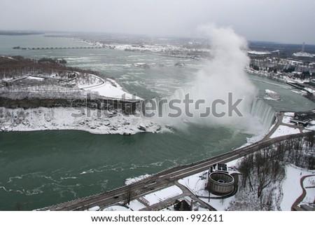 Niagara Falls Aerial View - stock photo
