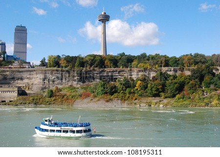 Niagara Falls ,and Maid of the Mist Tour, Canada - stock photo