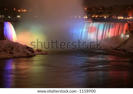 Niagara Falls at Night - stock photo
