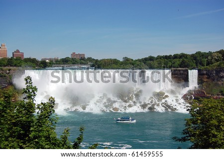 Niagara Falls Centered (The American Side) - stock photo