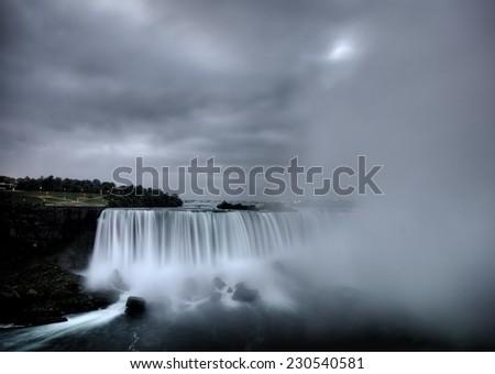 Niagara Falls Daytime Ontario New York Canada USA - stock photo