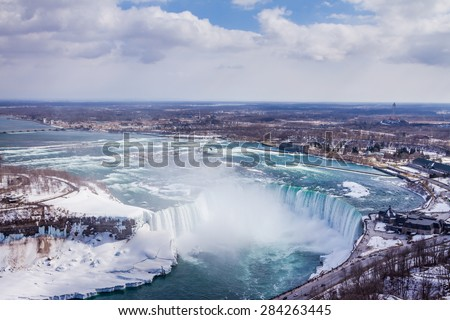 Niagara Falls during winter season - stock photo