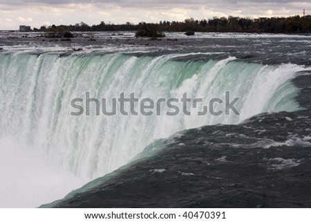 Niagara Falls from Canada side - stock photo