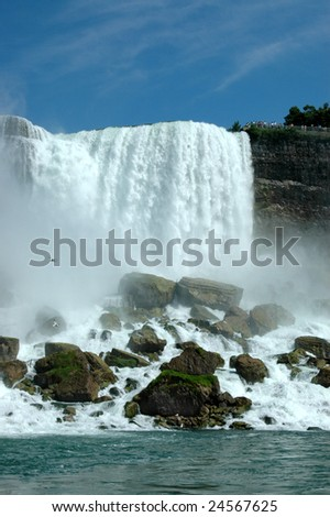 Niagara Falls from the US side - stock photo