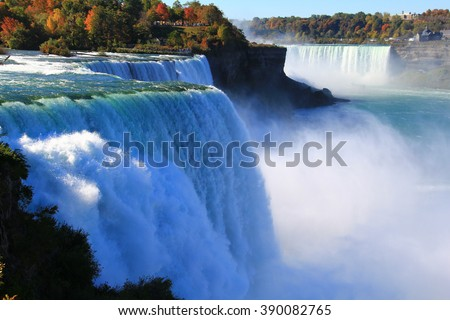 Niagara Falls from USA. Landscape view. - stock photo